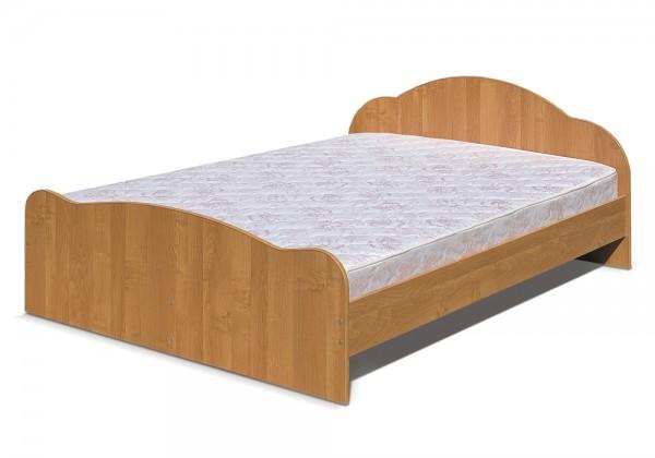 Кровать 2х спальная 1,4 Светлана-1(ольха)