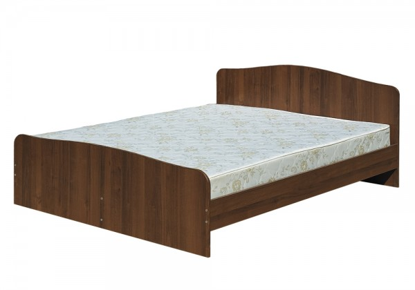 Кровать 2х спальная 1,6 Светлана-1(орех)