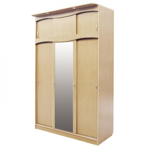 шкаф 3 дв с антр со светильн Светлана 1  (бук)